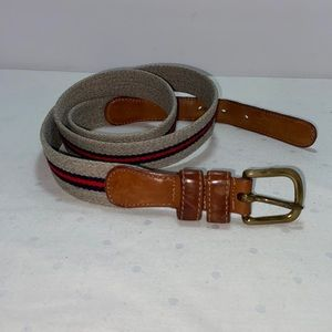 Authentic Vintage Coach Wool and Leather Belt 40